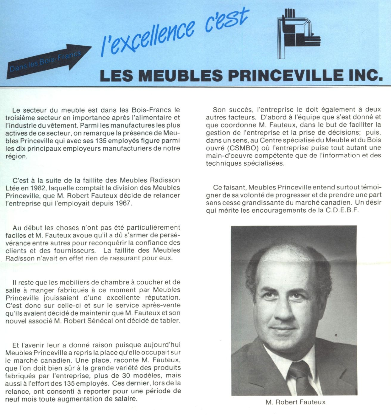 Commerces et industries princeville furniture for Le meuble villageois inc